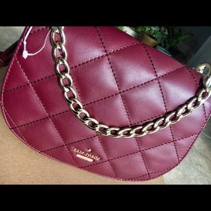 Kate Spade Quilted Shoulder Bag with Gold Chain
